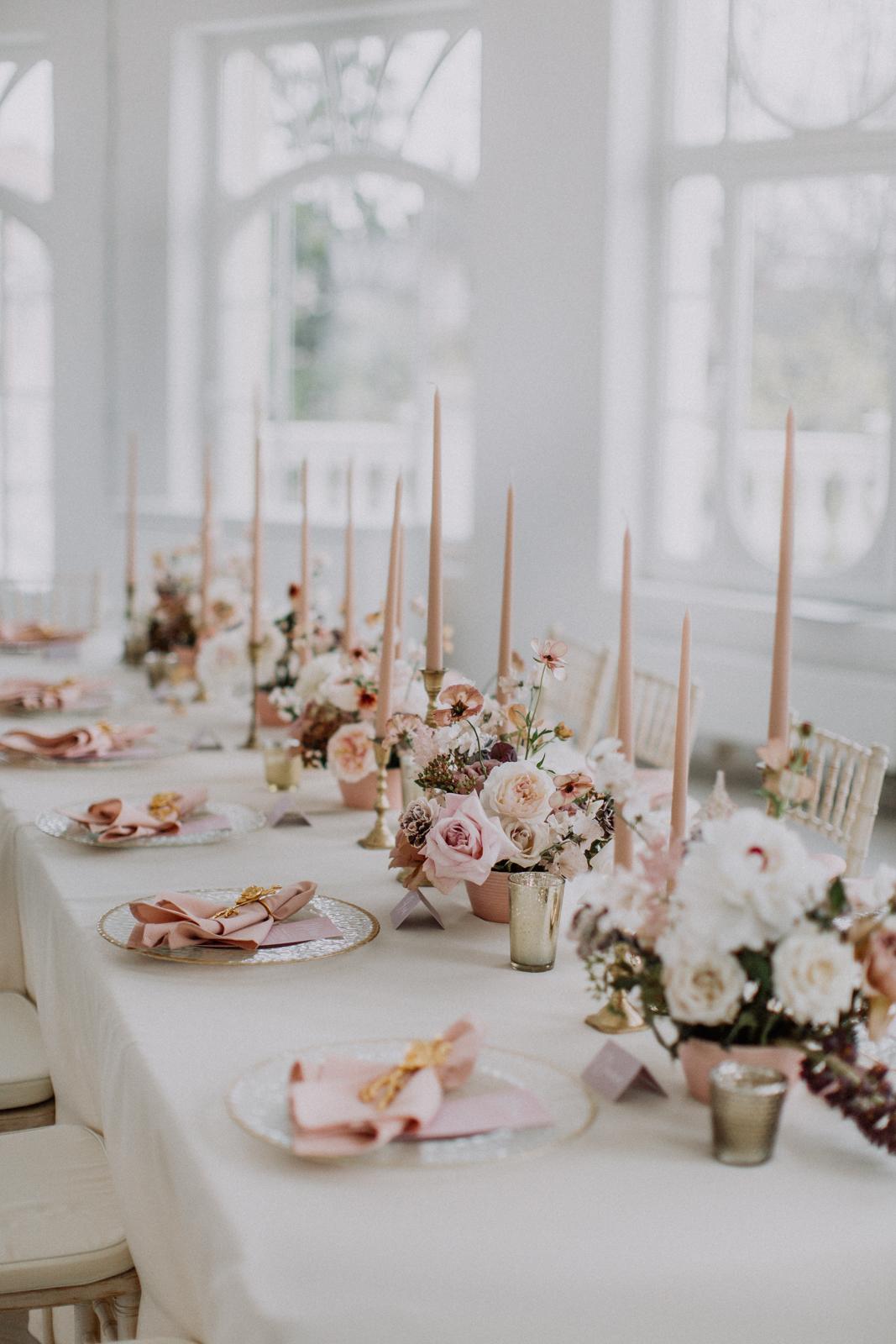 Нежное оформление свадьбы