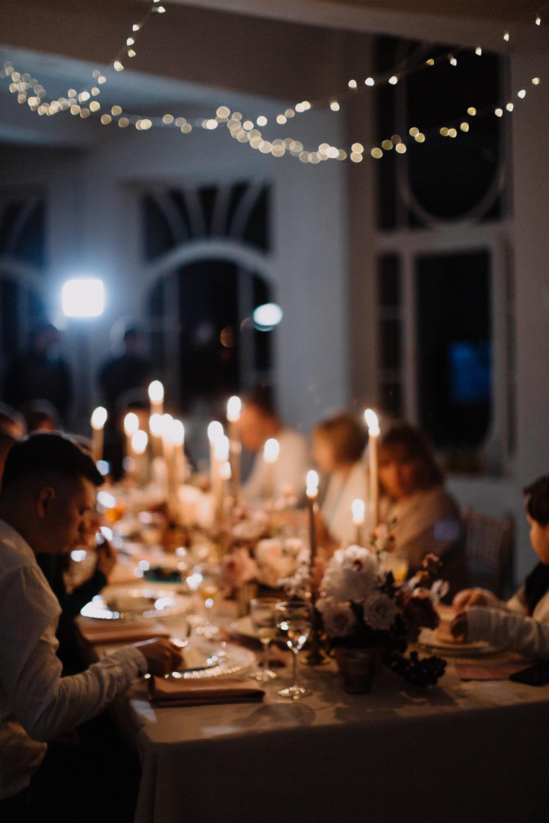 Камерный свадебный ужин