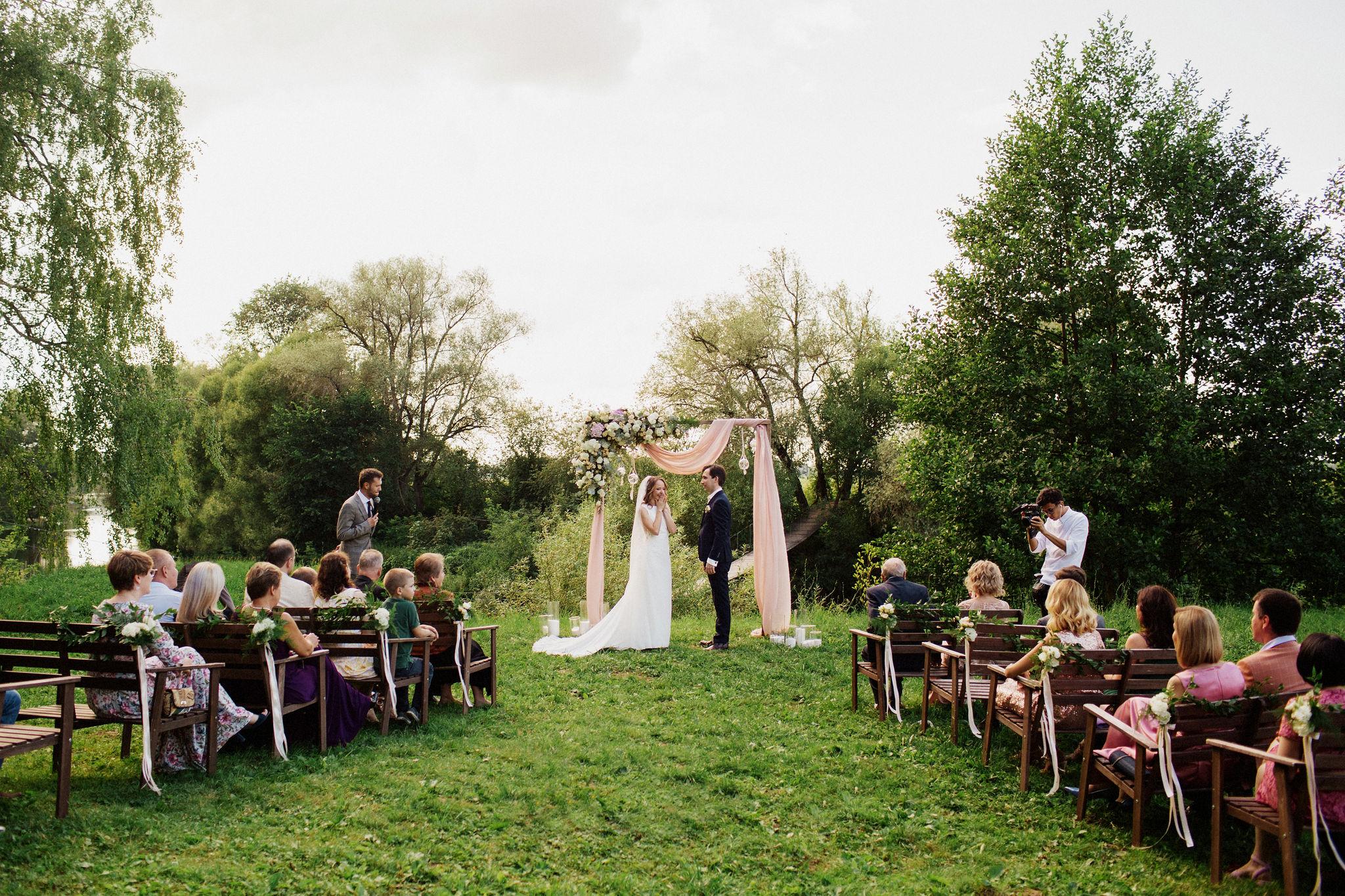 Выездная церемония на природе