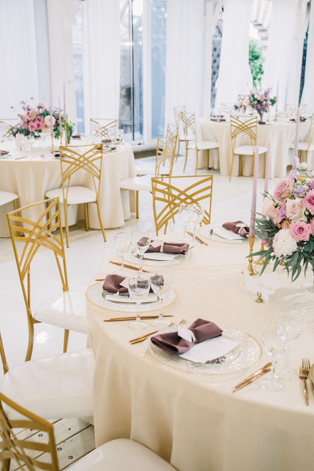 Свадьба в Жан-Реми. Оформление столов